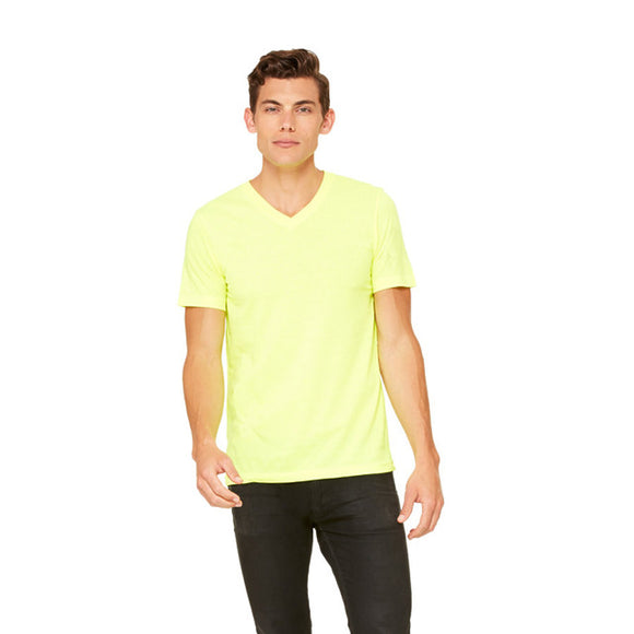 Bella Canvas - Neon Yellow - Unisex V-Neck-Country Gone Crazy-Country Gone Crazy