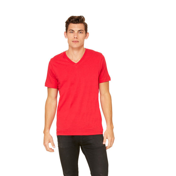 Bella Canvas - Red - Unisex V-Neck-Country Gone Crazy-Country Gone Crazy