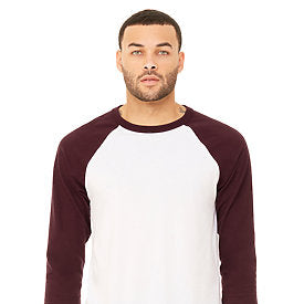Bella Canvas - White Body with Maroon Sleeves-Country Gone Crazy-Country Gone Crazy