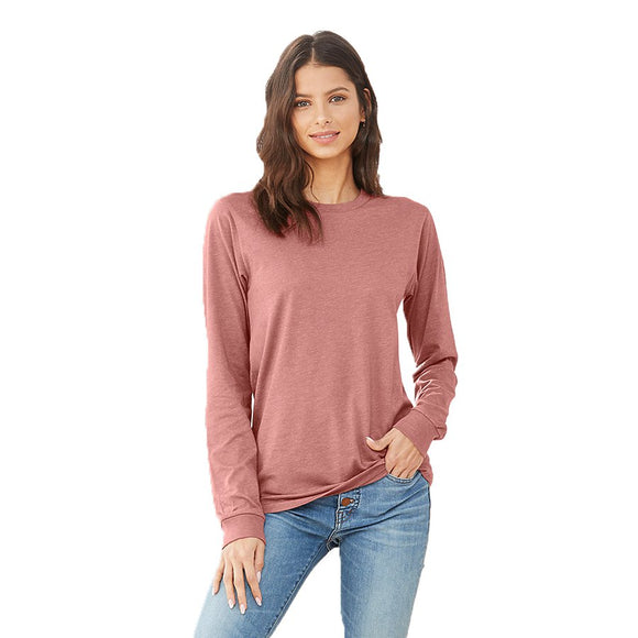 Bella Canvas Long Sleeve - Heather Mauve-Country Gone Crazy-Country Gone Crazy