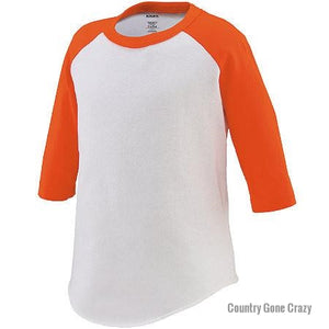 Augusta - Orange Sleeves with White Body-Country Gone Crazy-Country Gone Crazy