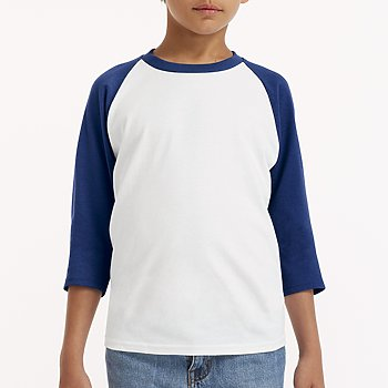 Youth Gildan - Navy Sleeve with White Body-Country Gone Crazy-Country Gone Crazy
