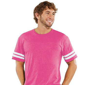 Vintage Hot Pink - Football Tee-Country Gone Crazy-Country Gone Crazy