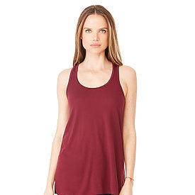 Bella Canvas Women's Flowy Racerback Tank - Maroon-Country Gone Crazy-Country Gone Crazy