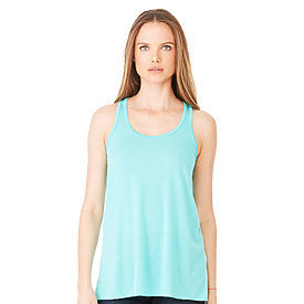 Bella Canvas Women's Flowy Racerback Tank - Teal-Country Gone Crazy-Country Gone Crazy