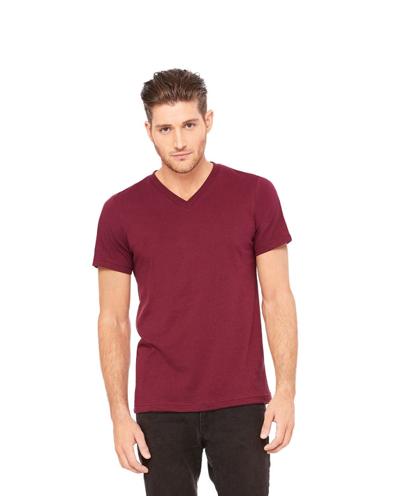 Bella Canvas - Maroon - Unisex V-Neck-Country Gone Crazy-Country Gone Crazy