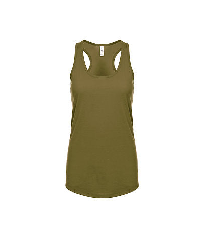 Next Level Women's Ideal Racerback Tank - Military Green-Country Gone Crazy-Country Gone Crazy