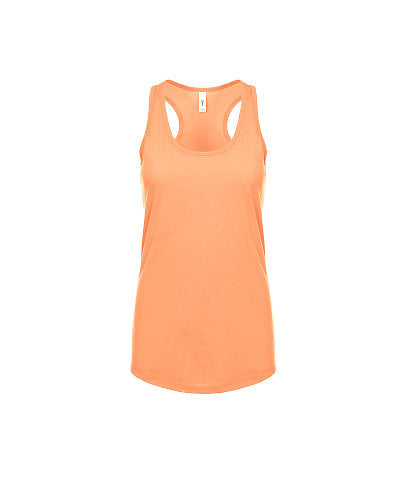 Next Level Women's Ideal Racerback Tank - Light Orange-Country Gone Crazy-Country Gone Crazy
