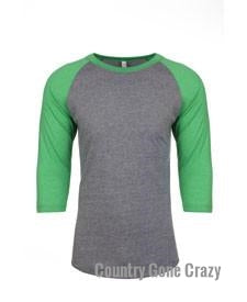 Next Level - Envy Sleeves with Premium Heather Body-Country Gone Crazy-Country Gone Crazy