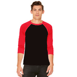Bella Canvas - Black Body with Red Sleeve-Country Gone Crazy-Country Gone Crazy