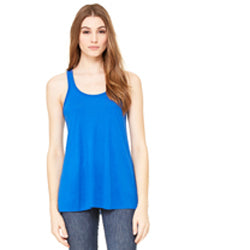 Bella Canvas Women's Flowy Racerback Tank - True Royal-Country Gone Crazy-Country Gone Crazy