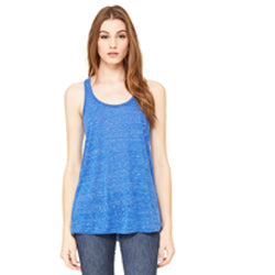 Bella Canvas Women's Flowy Racerback Tank - True Royal Marble-Country Gone Crazy-Country Gone Crazy
