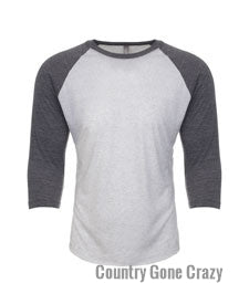 Next Level - Premium Sleeves with Heather White Body-Country Gone Crazy-Country Gone Crazy