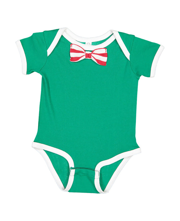 Red/White/Green with Bowtie Onesie-Country Gone Crazy-Country Gone Crazy