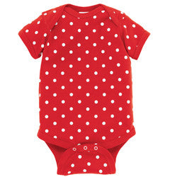 Red and White Polka Dot Onesie-Country Gone Crazy-Country Gone Crazy