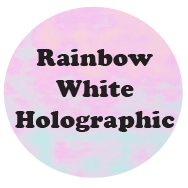 Rainbow White Holographic HTV-Country Gone Crazy-Country Gone Crazy