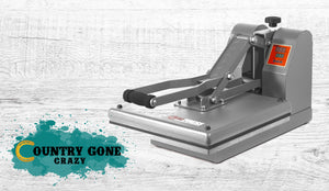 "MPress 15"" x 15"" High Pressure Heat Press Machine-Country Gone Crazy-Country Gone Crazy"