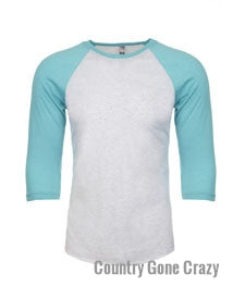 Next Level - Tahiti Sleeves with Heather White Body-Country Gone Crazy-Country Gone Crazy