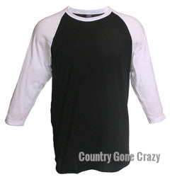 Tultex - White Sleeves with Black Body-Country Gone Crazy-Country Gone Crazy