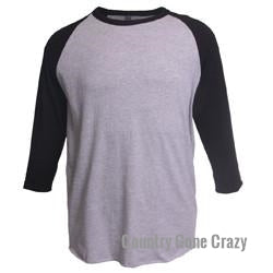 Tultex - Black Sleeves with Heather Grey Body-Country Gone Crazy-Country Gone Crazy