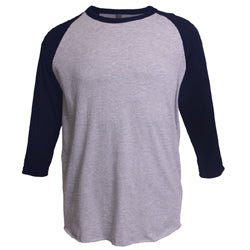 Tultex - Heather Grey Body with Navy Sleeves-Country Gone Crazy-Country Gone Crazy