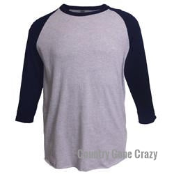 Tultex - Navy Sleeves with Heather Grey Body-Country Gone Crazy-Country Gone Crazy