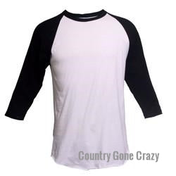Tultex - Black Sleeves with White Body-Country Gone Crazy-Country Gone Crazy