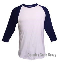 Tultex - Navy Sleeves with White Body-Country Gone Crazy-Country Gone Crazy