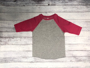 Rabbit Skins - Vintage Heather Body with Burgundy Sleeves-Country Gone Crazy-Country Gone Crazy