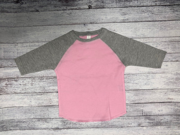 Rabbit Skins - Pink Body with Vintage Heather Sleeves-Country Gone Crazy-Country Gone Crazy