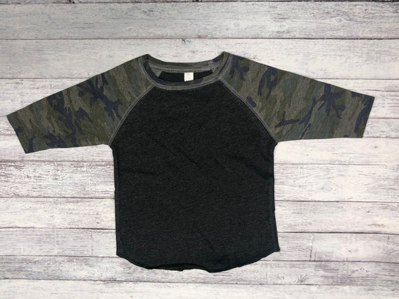 Rabbit Skins - Vintage Smoke Body with Camo Sleeves-Country Gone Crazy-Country Gone Crazy