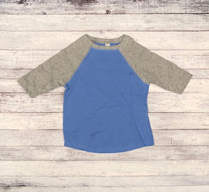 Rabbit Skins - Carolina Blue Body with Vintage Heather Sleeves-Country Gone Crazy-Country Gone Crazy