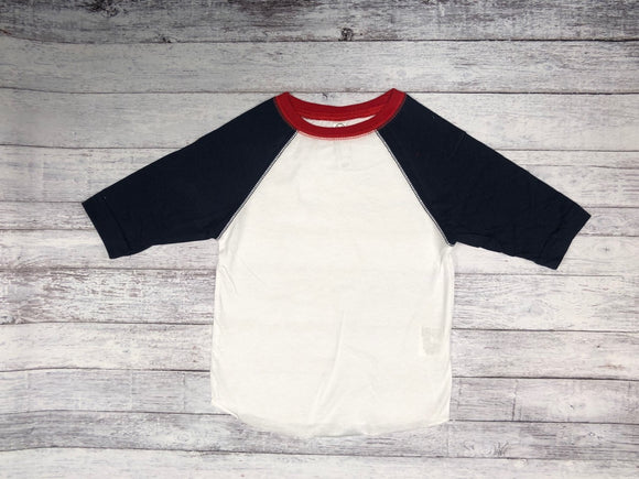 Rabbit Skins - White/Red with Navy Sleeves-Country Gone Crazy-Country Gone Crazy