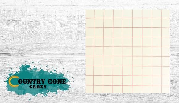 Red Line Grid Transfer Paper-Country Gone Crazy-Country Gone Crazy