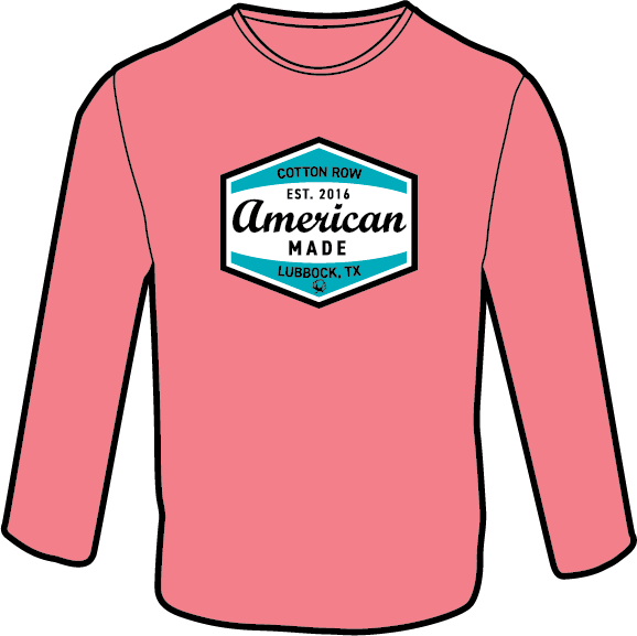 American Made Coral - Long Sleeve