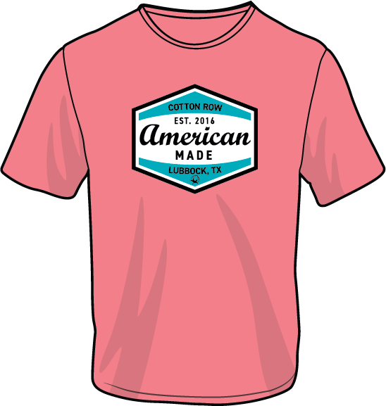 American Made Coral - Short Sleeve
