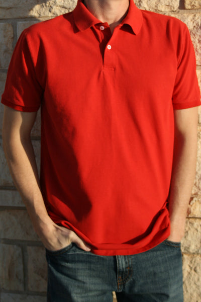 Classic Pique Polo - Red