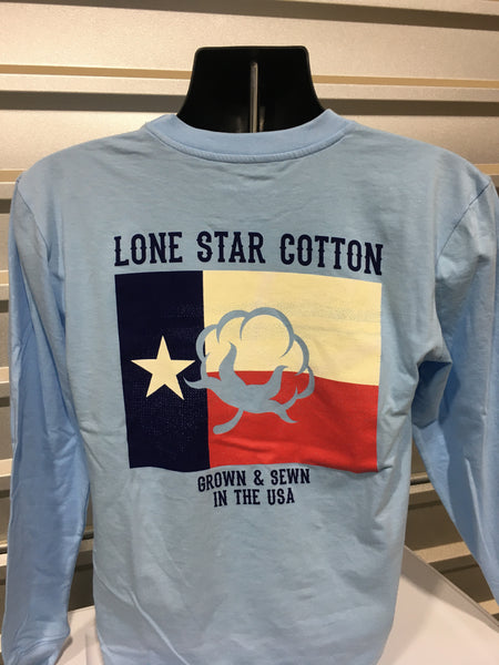 Texas Flag Boll-LS Baby Blue