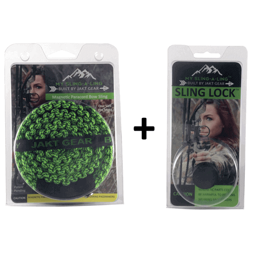 My Sling-A-Ling Magnetic Paracord Bow Sling + Magnetic Sling Lock Combo Pack - JAKT GEAR