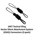 JAKT Tactical Sling - Kevlar Silent Attachment System (KSAS) Connectors (2-pack, Black) - JAKT GEAR