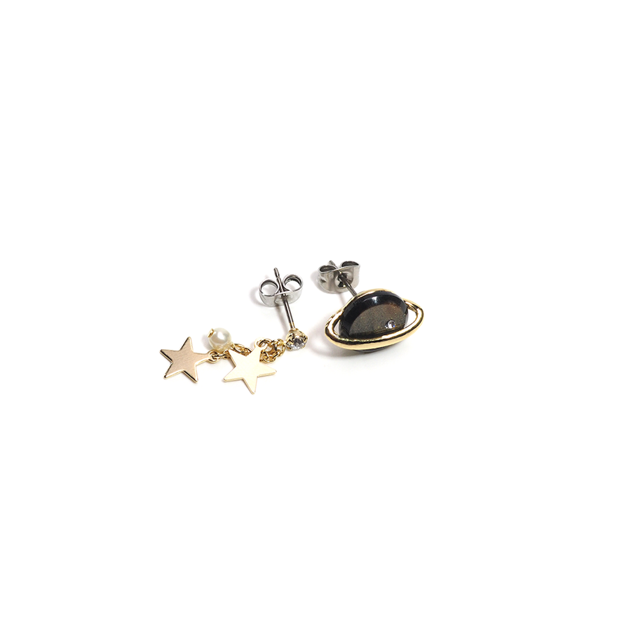 PLANET AND STARS EARRINGS-Earring-Meguro