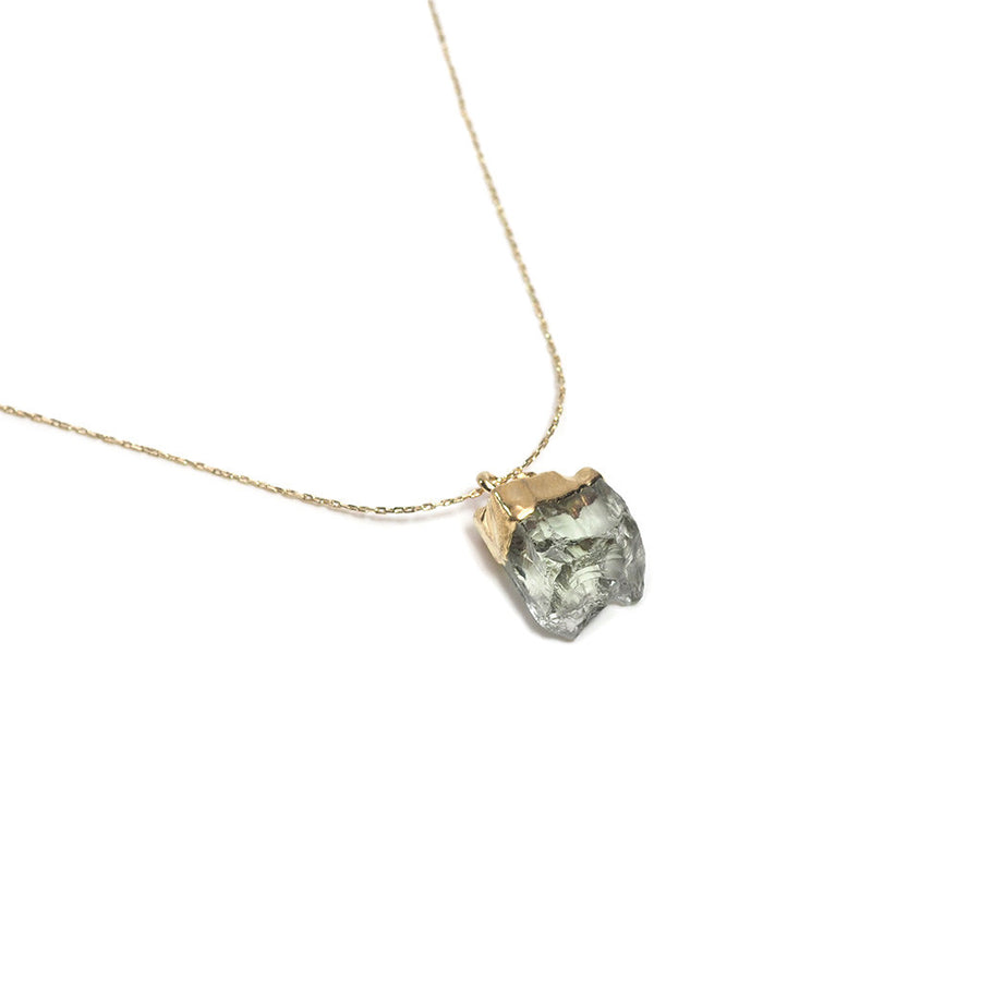 NATURAL STONE LONG PENDANT NECKLACE