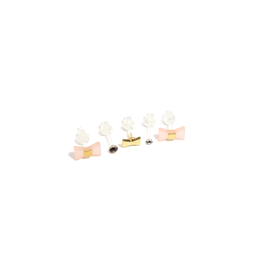 RIBBON STORY - Earrings Pack-Earring-Meguro