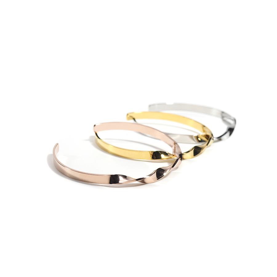 THE CLASSIC TWISTED OPEN BANGLE-Bracelet-Meguro