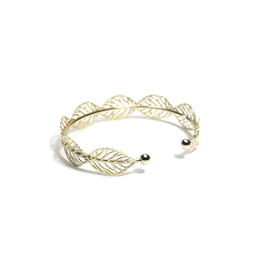 THE AUTUMN LEAFS CUFF BANGLE-Bracelet-Meguro