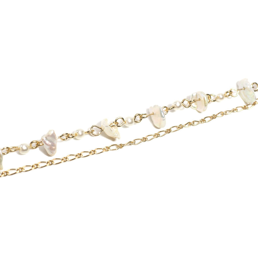 SHELL OUT THE SHELLS DOUBLE LAYER CHAIN BRACELET