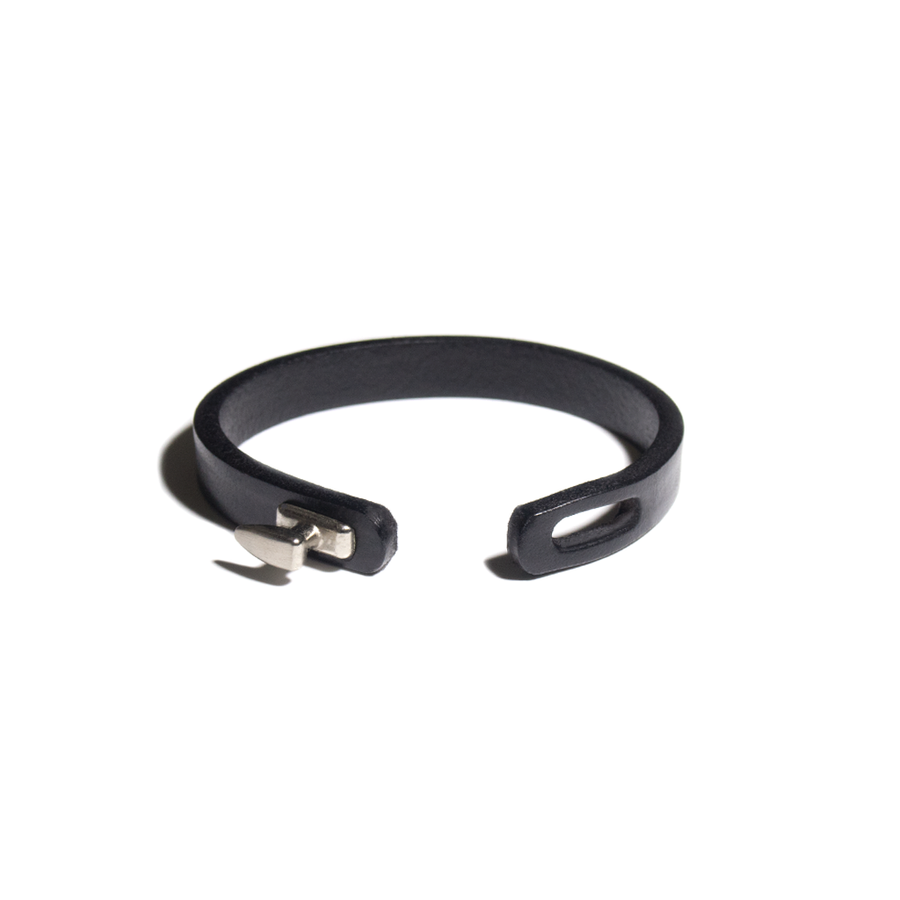 FISH HOOK LEATHER BRACELET-Bracelet-Meguro