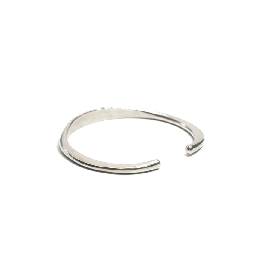 STERLING SILVER HAMMERED OPEN BANGLE