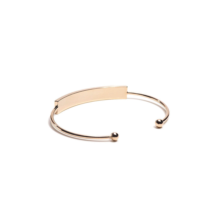 ROSE GOLD METAL PLATE FINE OPEN BANGLE