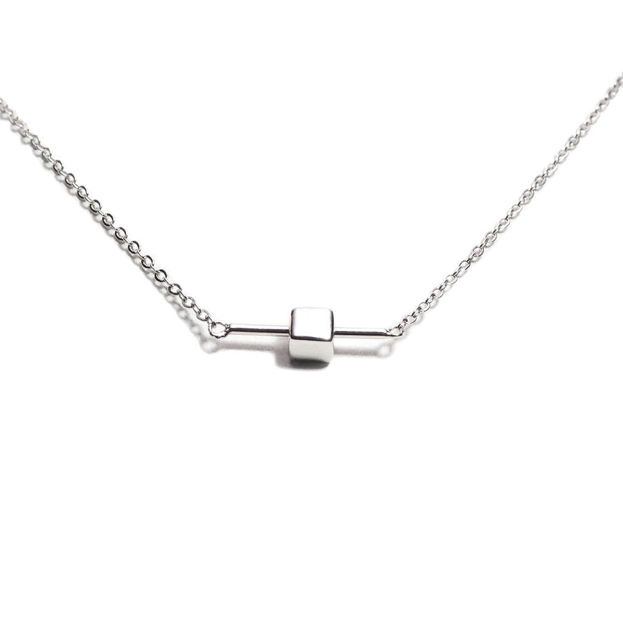 STERLING SILVER BALANCE CHAIN NECKLACE
